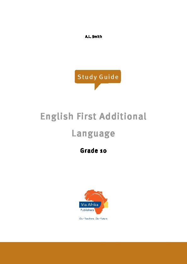 English(Grade 10) | STANMORE Secondary
