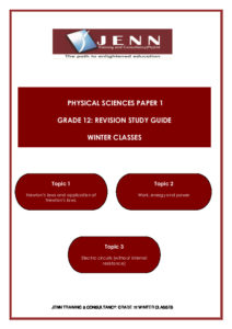 Study Notes Physical Science Grade 12 | STANMORE Secondary