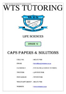 Life Sciences(Grade 12) | STANMORE Secondary